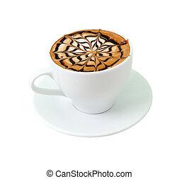 遅く, コーヒー, 隔離された, チョコレート