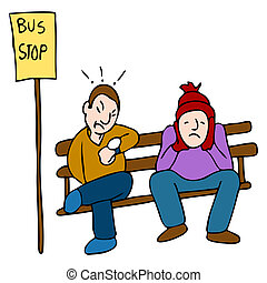 遅く, バス