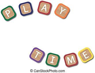 遊び時間, 子供, ブロック
