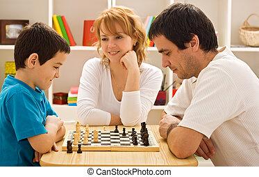 遊び, 家族, チェス
