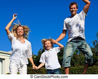 遊び, 家族, 庭