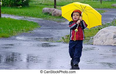 遊び, 雨