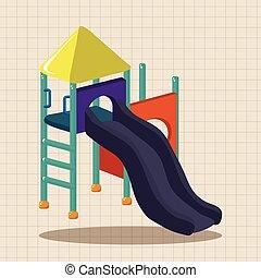 運動場スライド, 主題, 要素