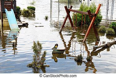 運動場, 洪水