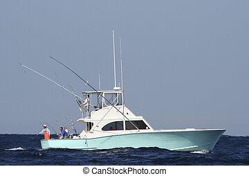 運動捕魚, 小船