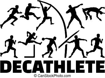 運動競技, シルエット, 十種競技