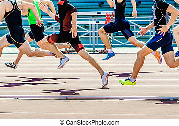 運動選手, グループ, スプリンター