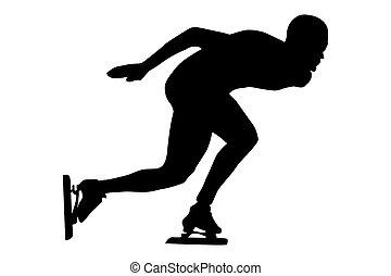 運動選手, スピードスケーター, 人