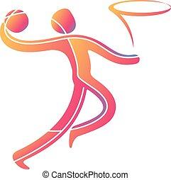 運動選手, スポーツ, ゲーム, 競争, アイコン