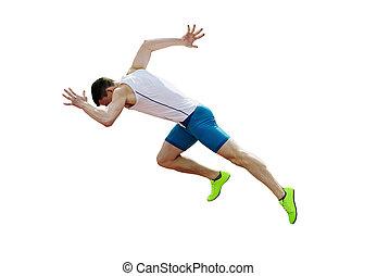 運動選手, 始めなさい, マレ, スプリント, 操業, ランナー