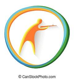 運動選手, 射撃, スポーツ, 競争, アイコン
