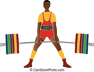 運動選手, 若い, powerlifter