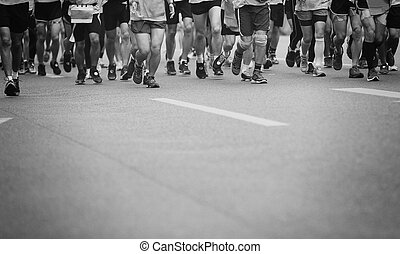 運動選手, 足, 未確認, マラソン