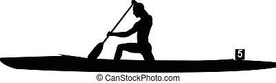 運動選手, rower, スプリント, カヌー