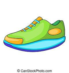 運動, アイコン, スタイル, 靴, 漫画