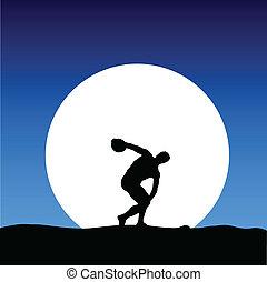 運動, ゲーム, 月