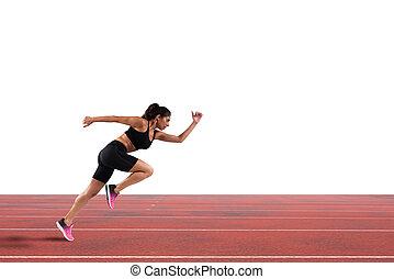 運動, ランナー, 女