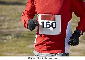 運動, ランナー, circuit., マレ, race., 屋外, 国, 交差点