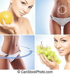 運動, 健康, 以及, 營養