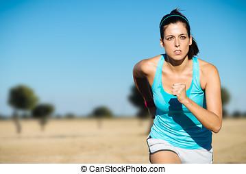 運動, 婦女, 發怒 國家, 跑