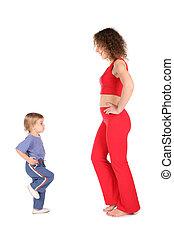 運動, 母親, 由于, 嬰孩