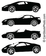 運動, 汽車, 矢量, 集合, 2