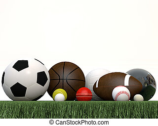 運動, 球, 被隔离, 在懷特上, 背景