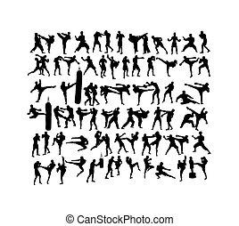 運動, 藝術, 軍事, 黑色半面畫像