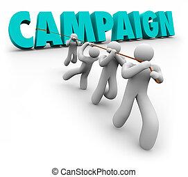 運動, 詞, 隊, 拉, 信件, 促進, 銷售, 選舉, 工人