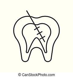 運河, アウトライン, endodontic, 待遇, 根, ∥あるいは∥, アイコン