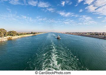 運河, エジプト, スエズ