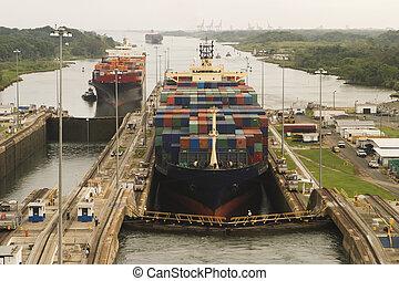 運河, パナマ, 商業