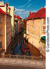 運河, プラハ, ボート