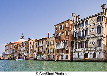 運河, ベニス, イタリア, 壮大
