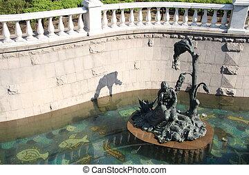 運河, 女の子, 彫刻, 若い