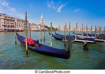 運河, 平底小船, 威尼斯