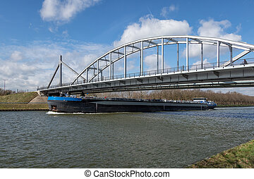 運河, 橋, 鋼鉄, rijn, オランダ語, アムステルダム, 船, 渡ること