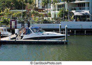 運河, 現場, サーファーパラダイス, queensland, オーストラリア