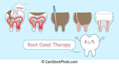 運河, 療法, 根, 歯