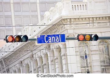 運河, 通りの 印
