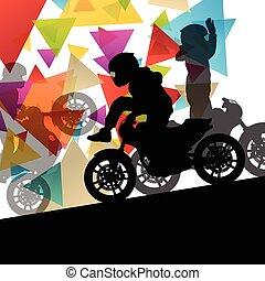運転手, オートバイ, 極点, スタントマン, パフォーマンス