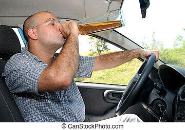 運転手, 酔った