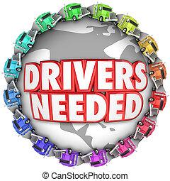 運転手, needed, トラック, のまわり, 世界, インターナショナル, トラック運転手, 雇用, 仕事