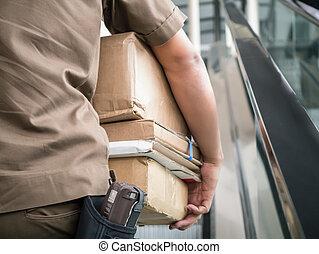 運載, 郵遞員, 包裹
