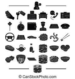 運輸, 附件, 機械, 以及, 其他, 网, 圖象, 在, 黑色, style.treat, 餐館, 職業, 圖象, 在, 集合, collection.