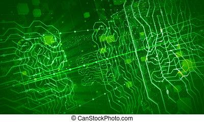 過程, 全球, 綠色, 板, 未來