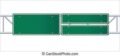 道交通, ハイウェー, 印。, バックグラウンド。, サイン, 白