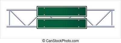 道交通, バックグラウンド。, 印。, サイン, 白, ハイウェー