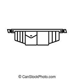 道具ベルト, ベクトル, 株, デザイン, シンボル, web., シンボル。, グラフィック, toolbag