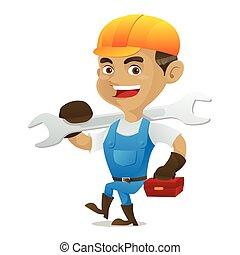 道具箱, 届く, handyman, レンチ